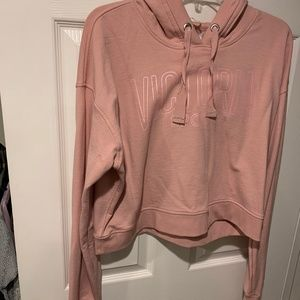 VS SPORT Cropped hoodie with thumb holes